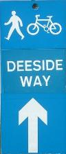 Deeside Way Sign