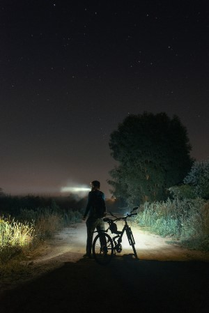 mountain biking at night